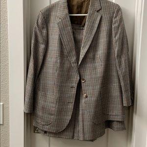 Vintage Burberry Skirt Suit
